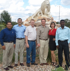 Pictured left to right: John Lujan, Erach Songadwala, David Hoeft (Network Administrator, SA Christian Schools), Tony Streeter, Jessica Saucedo, Alex Chandran