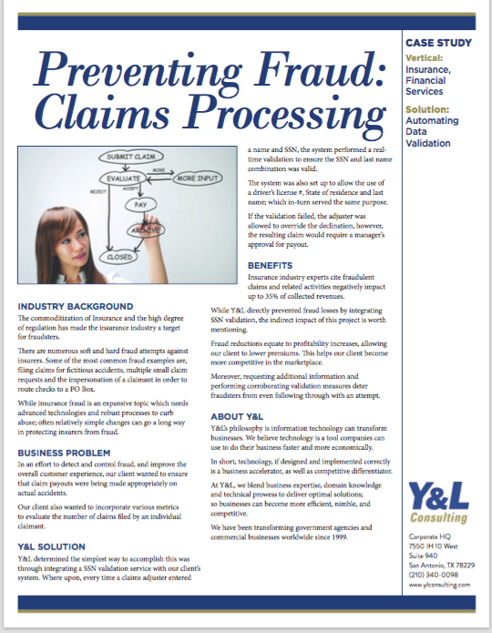 Preventing Fraud: Claims Processing