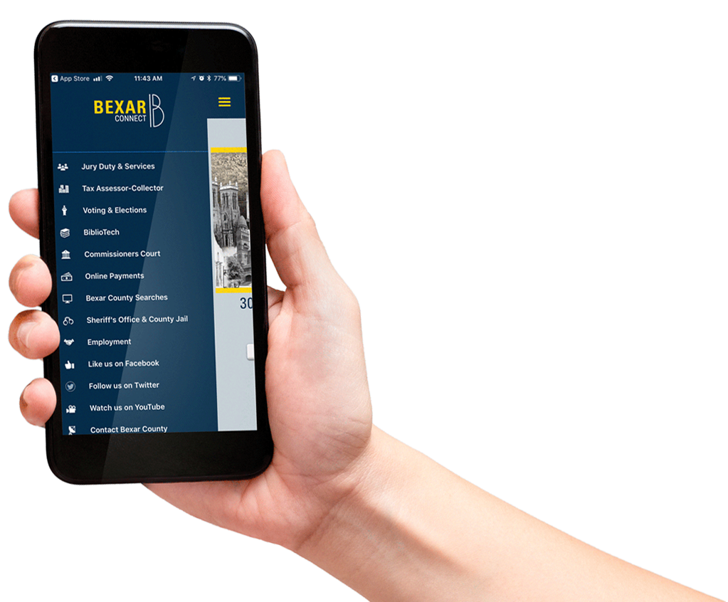 Bexar Connect App on smartphone
