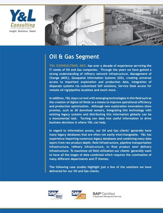 Oil & Gas Brochure | Y&L Consulting